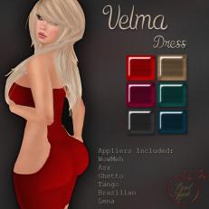 Velma Dress Dark-BAD